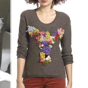 Anthropologie Dimensional Doe Sweater
